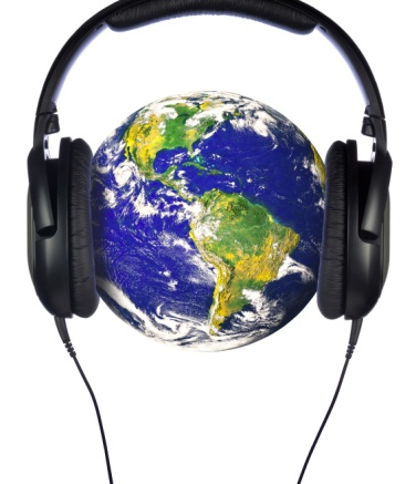 Headphones on the world