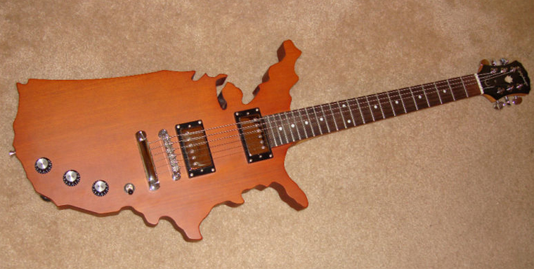 Epiphone US map custom guitarz