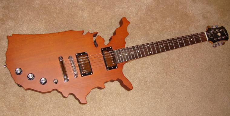 Epiphone US map custom guitarz