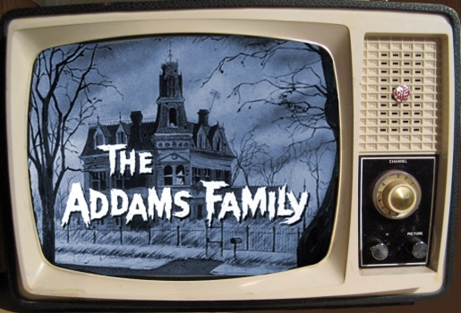 Vintage TV - Addams Family - blue screen