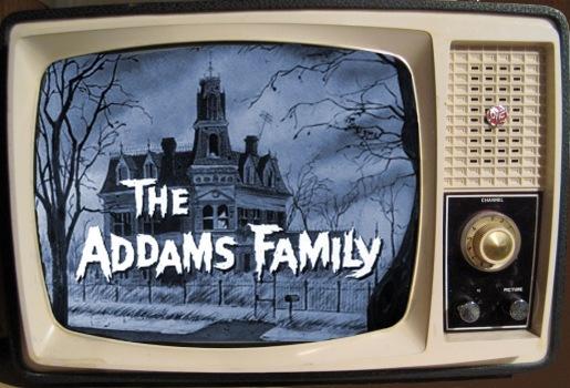 Vintage TV - Addams Family - blue screen